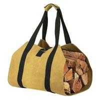 Firewood Storage Bag Canvas Match Storage Bag Portable Outdoor Match Storage Bag Canvas Firewood Carrier Log Tote #SW