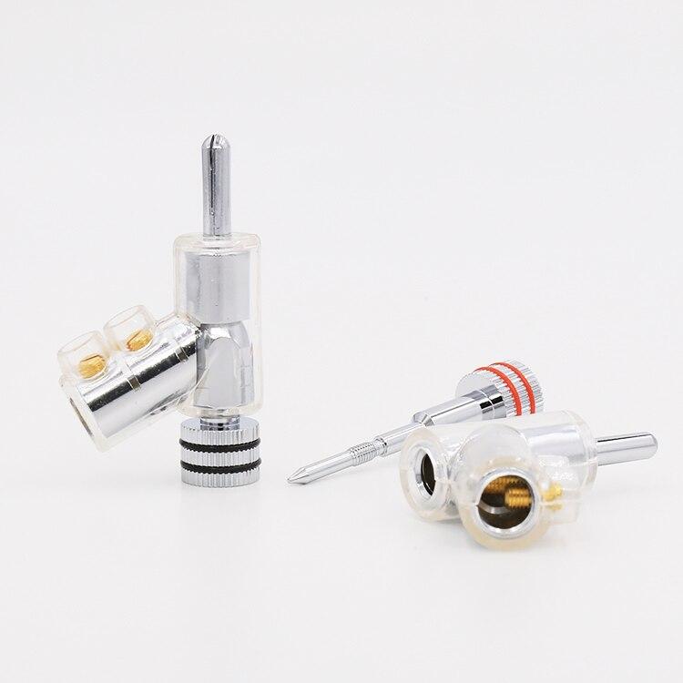 VB202R de alta gama rodio cerradura chapada altavoz CABLE conector BANANA conector x