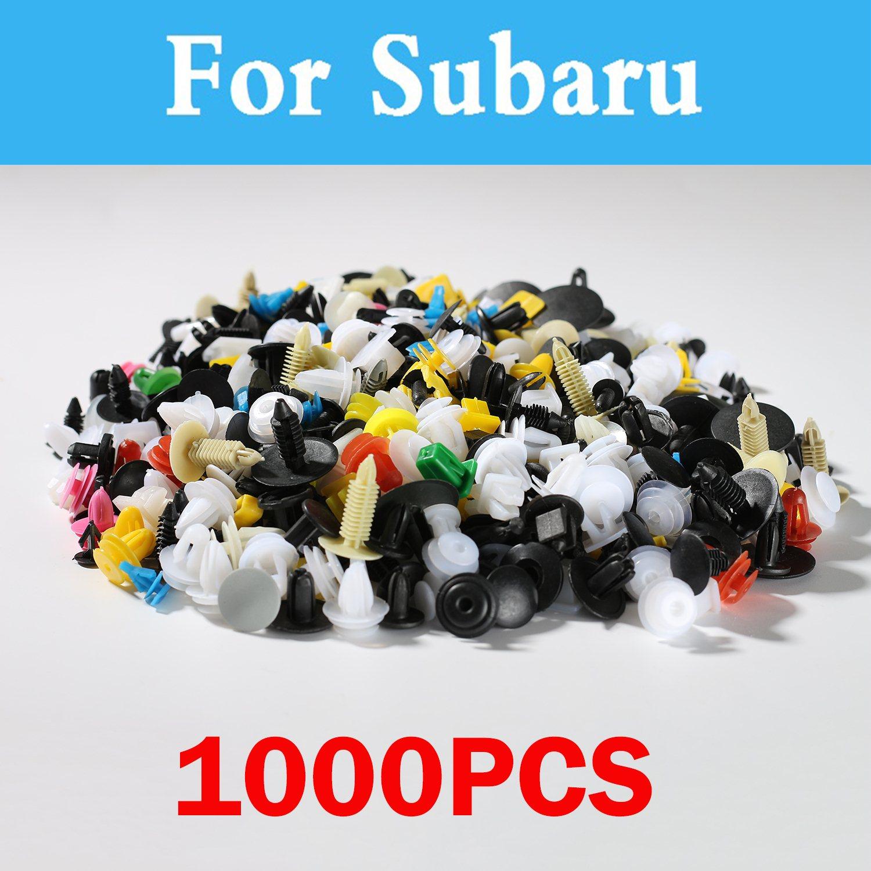 Lote de 1000 Uds de remaches remachadores para parachoques Subaru Impreza Wrx Brz Dex Exiga Sti Justy Forester Alcyone