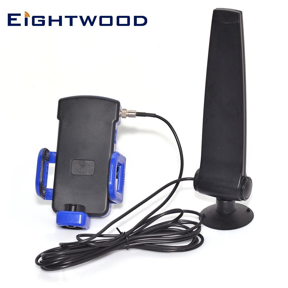 Huit bois – antenne 4G LTE GSM/GPRS/EDGE/CDMA, 12dbi, 890-960MHz, amplificateur de Signal pour téléphone portable avec support et câble de 2.5 m