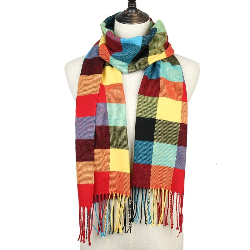 2020 клетчатый шарф, женские зимние шали, тёплый платок для детей, кашемировые шарфы для шеи, унисекс, Ретро стиль, в клетку, echarpe, мужские шарфы, bufanda