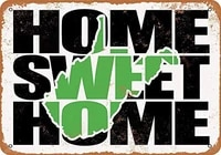 SRongmao     signe en metal 8x12  maison douce  verte  ouest-guinee