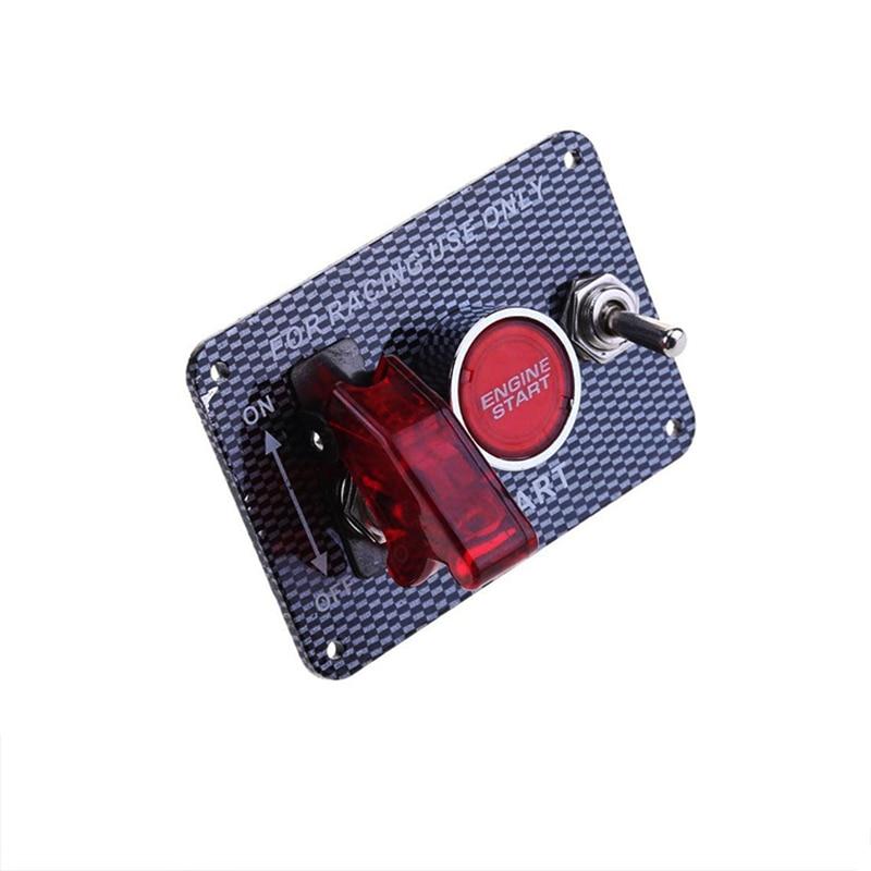 Модификация карбонового автомобиля 30 А, светодиодный однокнопочный переключатель зажигания с подсветкой, модификация цепи автомобиля, ком...