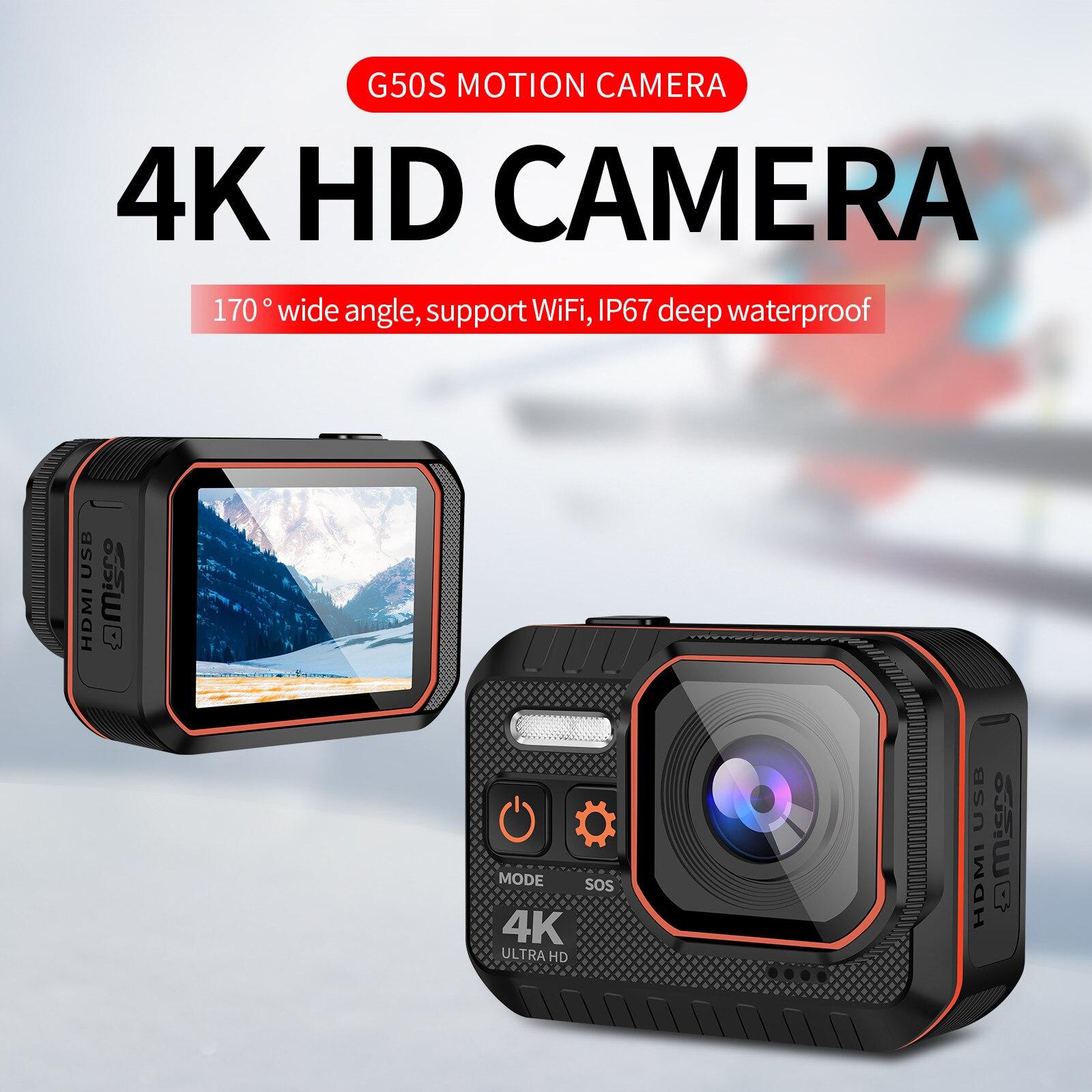 الترا HD 4K كاميرا رياضية التحكم عن بعد 2 بوصة شاشة عمل كاميرا 1080P 120fps 60 Fps مقاوم للماء خوذة الذهاب الرياضة برو بطل 5 Cam