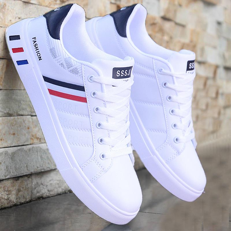 White vulcanized sneakers boys cheap flat comfortable shoes men autumn spring 2021 fashion sneakers
