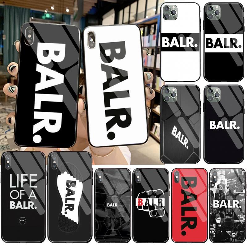 NBDRUICAI la vida de un BALR funda de teléfono de lujo de vidrio templado para iPhone 11 Pro XR XS MAX 8X7 6S 6 Plus SE caso De 2020
