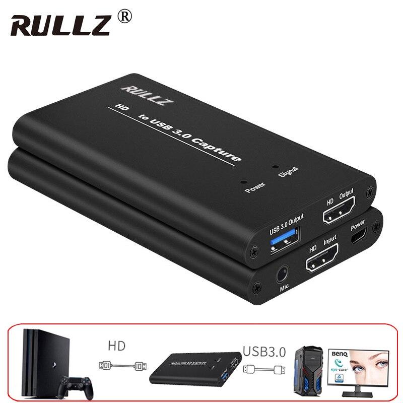YUY2 كامل HD 1080P HDMI-متوافق مع USB 3.0 فيديو بطاقة التقاط الصوت والفيديو الهاتف لعبة تسجيل صندوق الكمبيوتر البث المباشر البث ث هيئة التصنيع العسكري ح...
