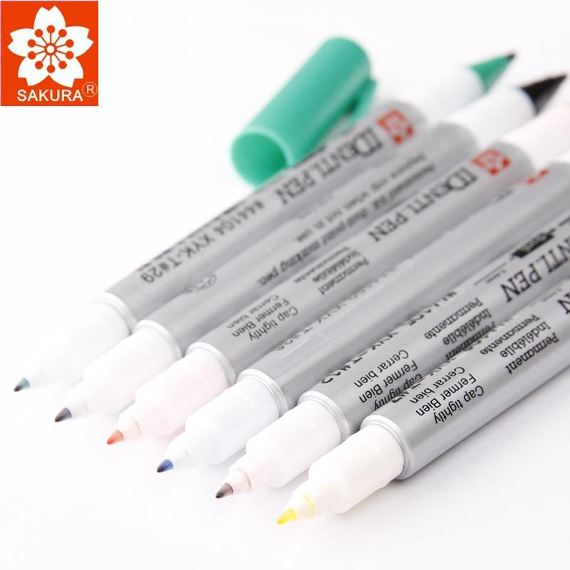 lifemaster-pluma-identi-sakura-fina-y-tinta-permanente-extrafina-marcador-de-doble-punto-en-cualquier-cosa-disponible-en-8-colores