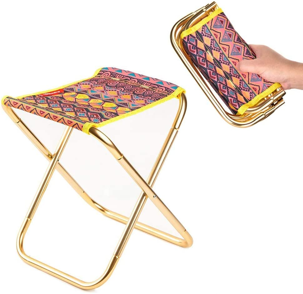 portable aluminum folding chair stool seat outdoor fishing camping picnic padded folding chair fishing Camping Chair Fishing Folding Chair Lightweight Foldable Picnic Chair Aluminium Outdoor Furniture Portable Fishing Seat beach