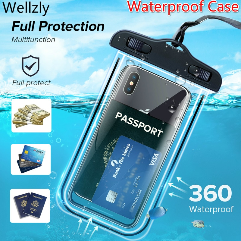 AliExpress - IP68 Universal Waterproof Phone Case Water proof Bag Mobile Phone Pouch PV Cover for iPhone 11 Pro Xs Max XR X 8 7 Galaxy S10