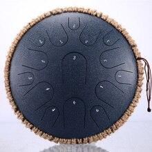 NEW Steel Tongue Drum 13 inch 15 tone  Drum Handheld Tank Drum Percussion Instrument Yoga Meditation Beginner Music Lovers Gift