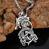 vintage viking rune dragon mens pendant necklace exquisite fashion viking power mens jewelry accessories 2021 trend