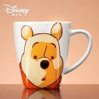 disney authentic winnie the pooh water cup large capacity mug with spoon cartoon ceramic cup coffee cup