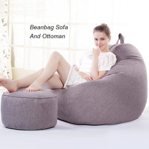 Beanbags Sofa Chairs Cover Without Filler Cushion Living Room Silla Zitzak Tatami been bag lazy sofa pouf ottoman