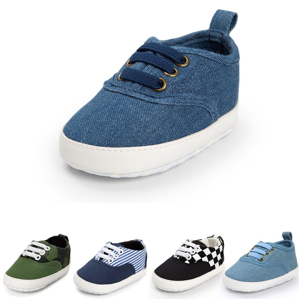2018 spring autum new infant sports baby boy shoes of children 1 3 years toddler soft bottom hook 2020 Newborn Shoes Infant Toddler Baby Boy Girl Spring Autumn Soft Bottom Spring Canvas Shoes Walkers Newborn