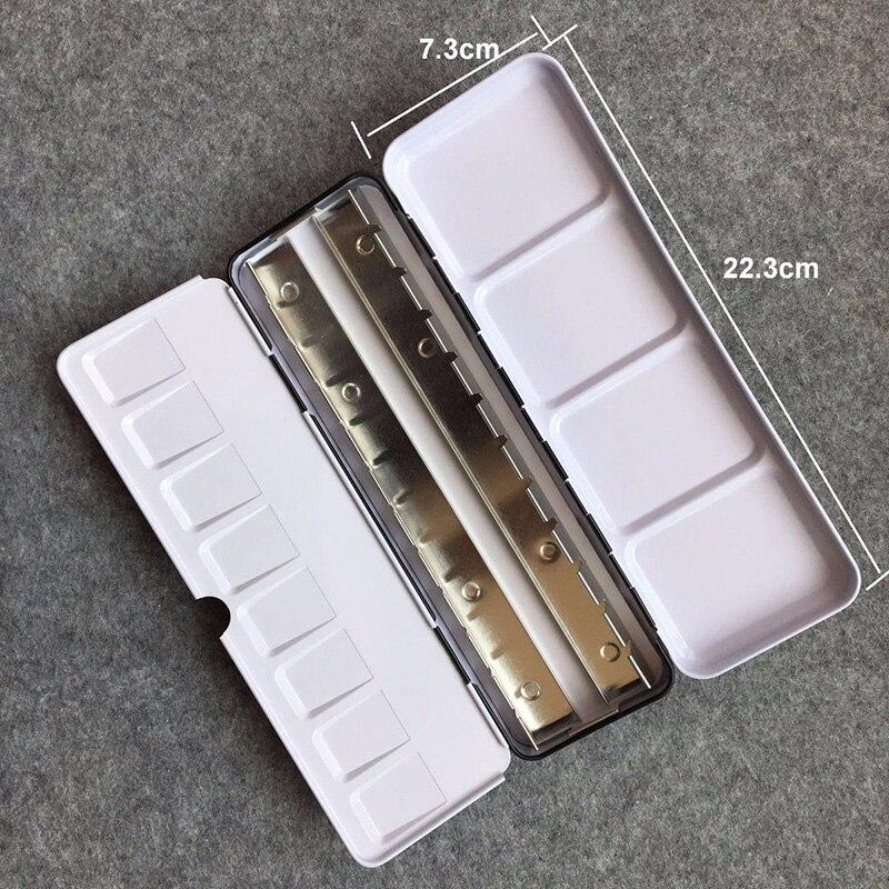1 unidad portátil vacía acuarela Metal caja de almacenamiento paletas 12/24/48