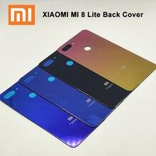 Xiao mi mi 8 لايت عودة غطاء البطارية الزجاج المقسى الباب الخلفي الإسكان غطاء استبدال ل Xioa mi 8 mi 8 لايت جراب هاتف