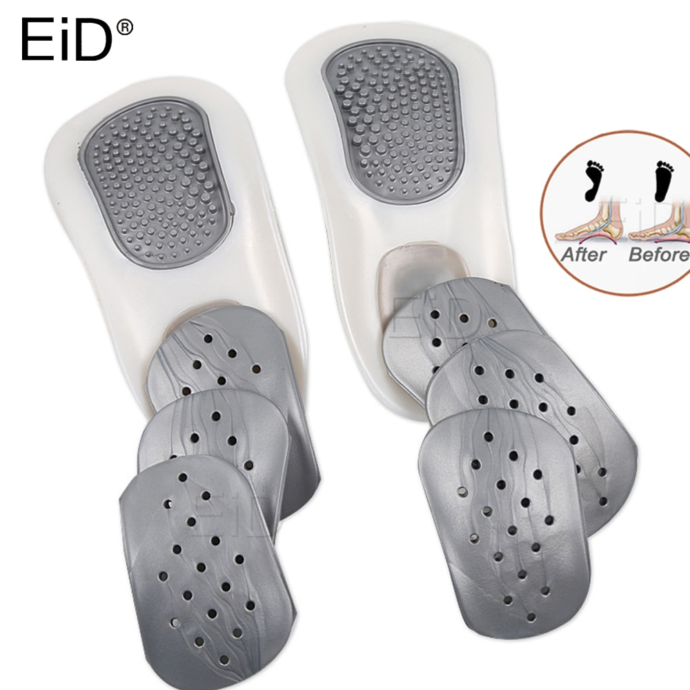 4d men and women universal sole flat insole flat foot insole support insole orthopedic massage mat sports insole nd 1 EiD 1Set Orthotic Insole For Flat Feet Arch Support massage Orthopedic half Shoes Sole Insoles For Men Women Shoe Pads Foot care