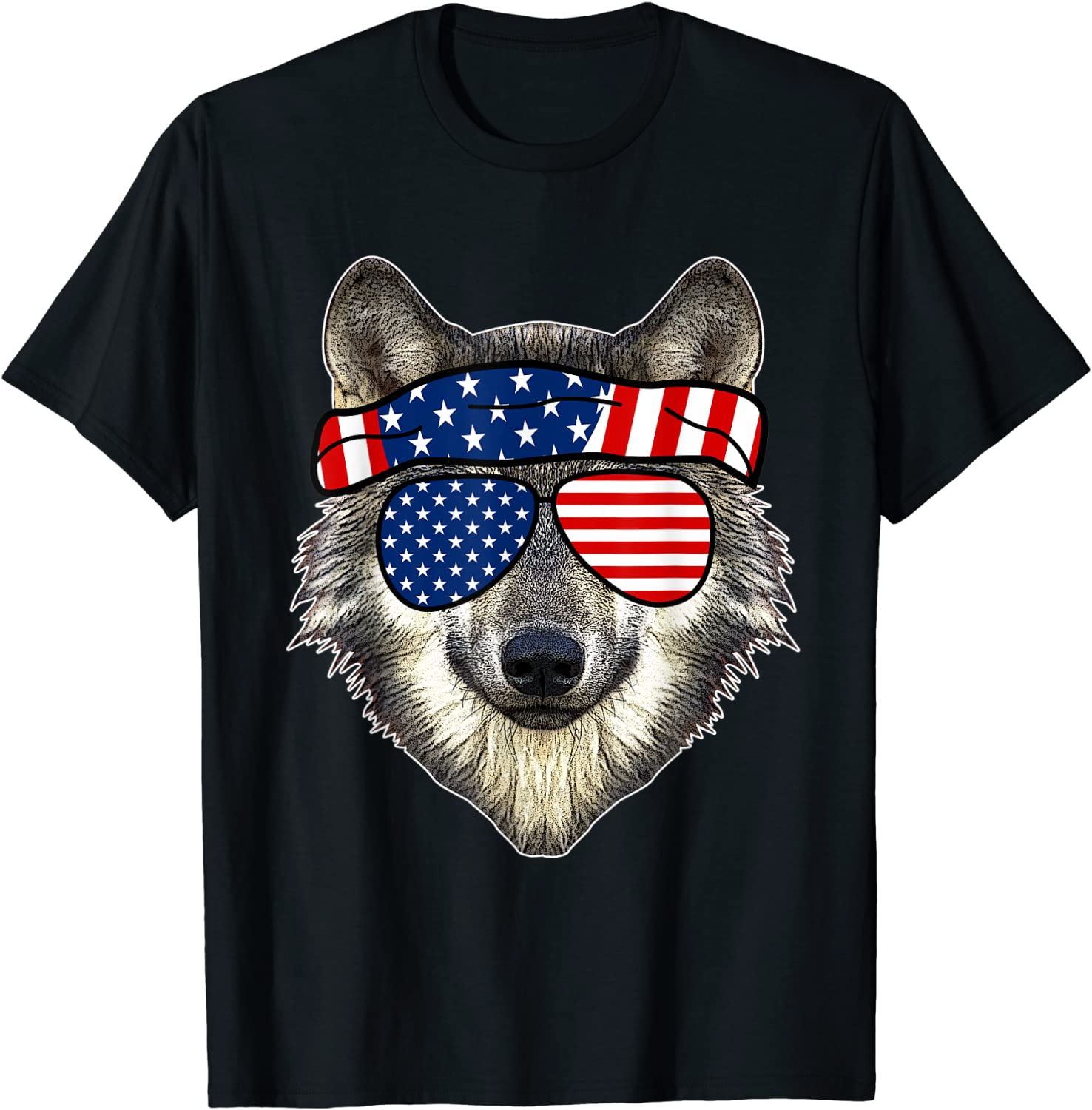 American Sunglasses Wolf 4th Of July Awesome Usa Gift T Shirt