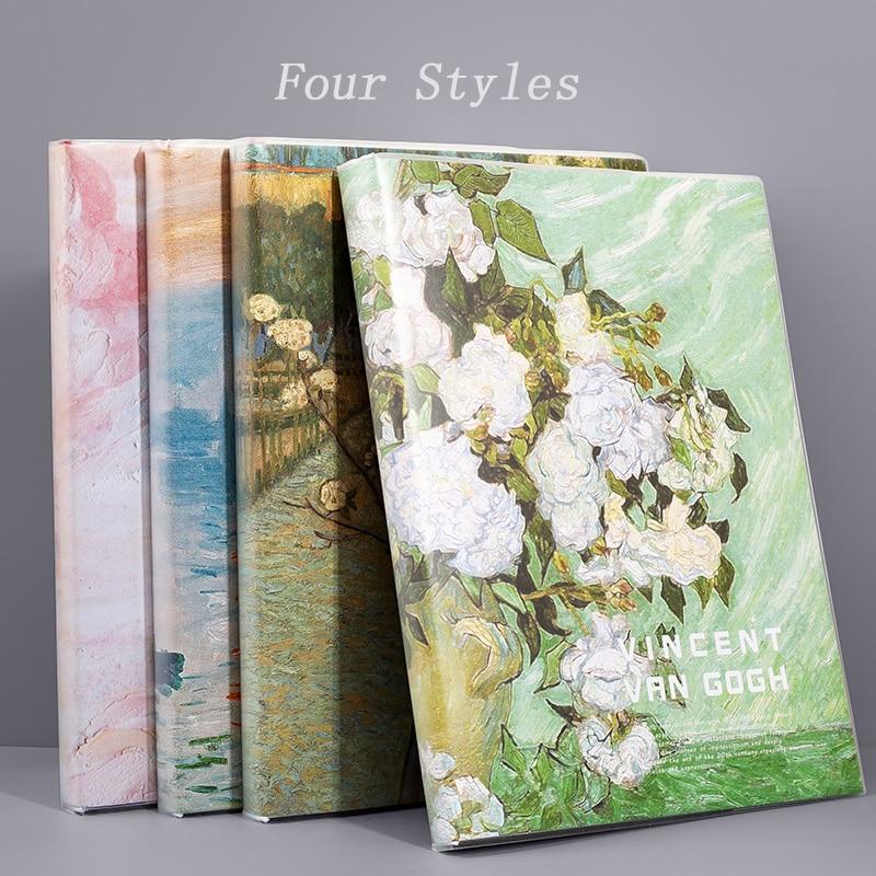 Супер толстый блокнот A4, милый блокнот для студентов, ретро-канцелярские товары цветов, чехол из искусственной кожи, школьные принадлежност...