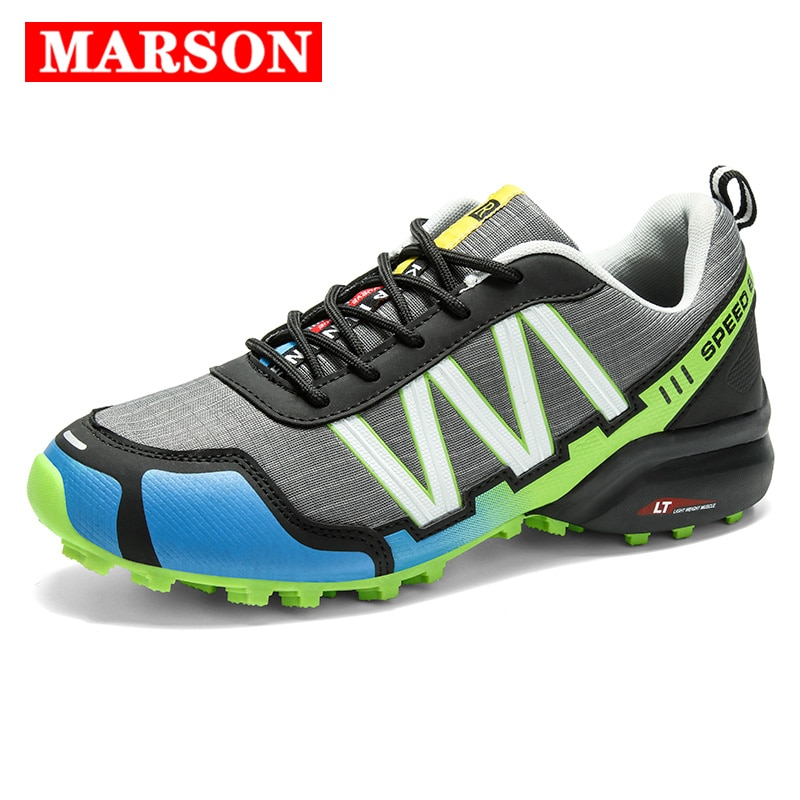 gomnear breathable mesh water shoes male outdoor swimming beach shoes big size anti skid sports trekking shoes summer sneakers SMS Men Outdoor Hiking Shoes Climbing Sport Breathable Sneakers Tactical Hunting Trekking Shoes Summer Mesh Anti-skid Trainers