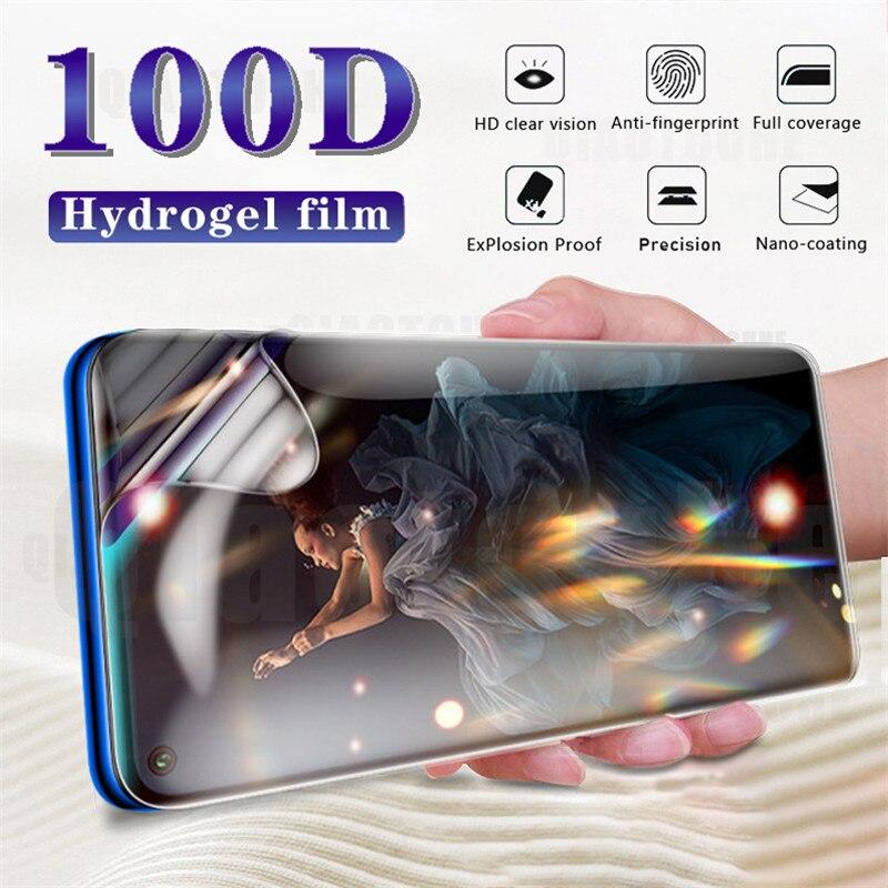 100D hidrogel de película para huawei honor 9 10 lite 20 pro 10i 20i protector de pantalla para el huawei p inteligente Z 2018 2019 película suave no de vidrio