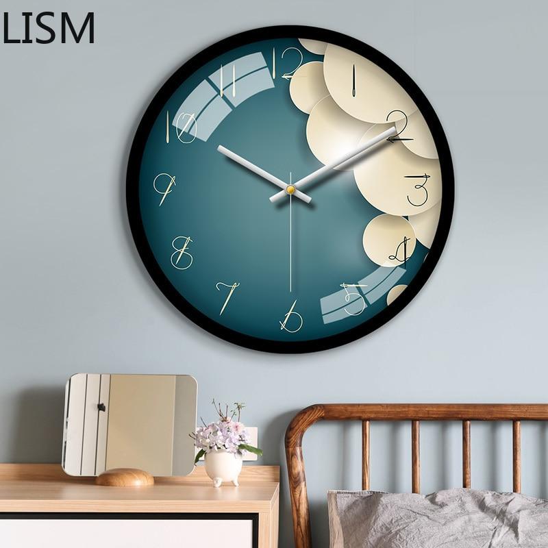 Reloj De Pared redondo De diseño Moderno para sala De estar, De...