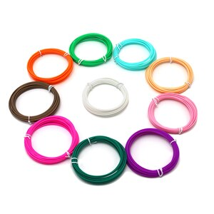 Free Shipping 20Pieces/lot 3D Printer Filament 5M/pcs 20 Colors 1.75mm PLA 3D Print Filament For 3D Printer Or 3D Pens kids gift