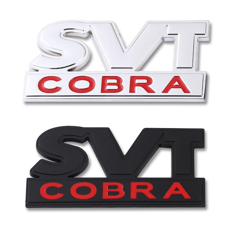 Etiqueta engomada del coche de la rejilla delantera del capó de la COBRA de la etiqueta engomada del emblema del maletero trasero 3D del coche calcomanías para Ford Mustang Ester LVT Cobra F150 F250 F350
