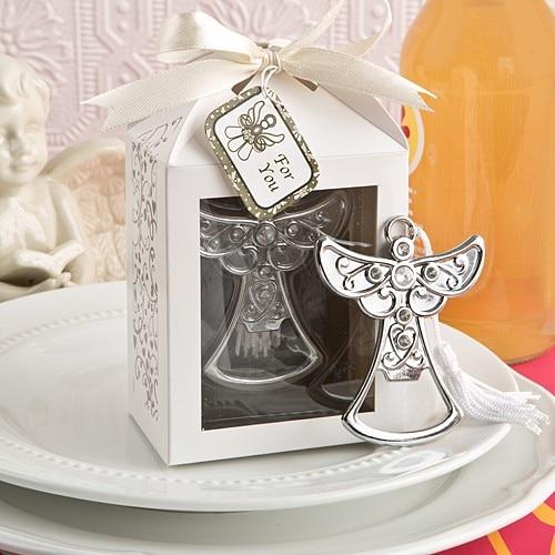 Abridor de garrafas de anjo em liga, utensílios de casamento, presentes de noiva, lembrança de presente de casamento, 20 pçs/lote
