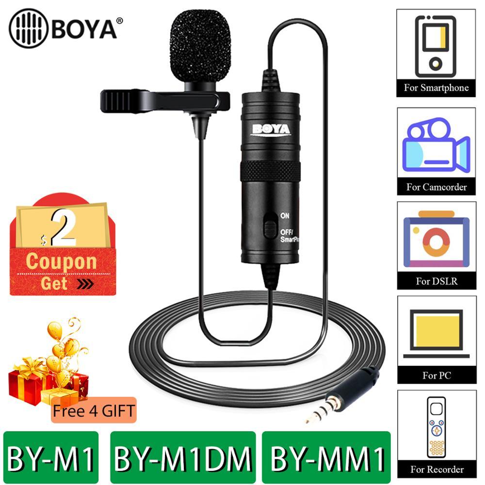 BOYA BY-M1 BY-M1DM Lavalier микрофон камера видео рекордер для iPhone смартфон Canon Nikon DSLR зум видеокамера pro