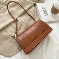 shoulder bag female designer underarm baguette bag handbag backpack women fashion 2021 pu leather all match crocodile pattern