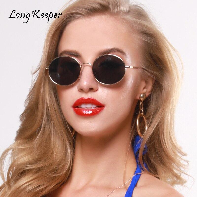 Longkeader, Ретро стиль, круглые солнцезащитные очки для мужчин и женщин, фирменный дизайн, роскошные, розовые, зеленые, желтые, черные солнцезащи...