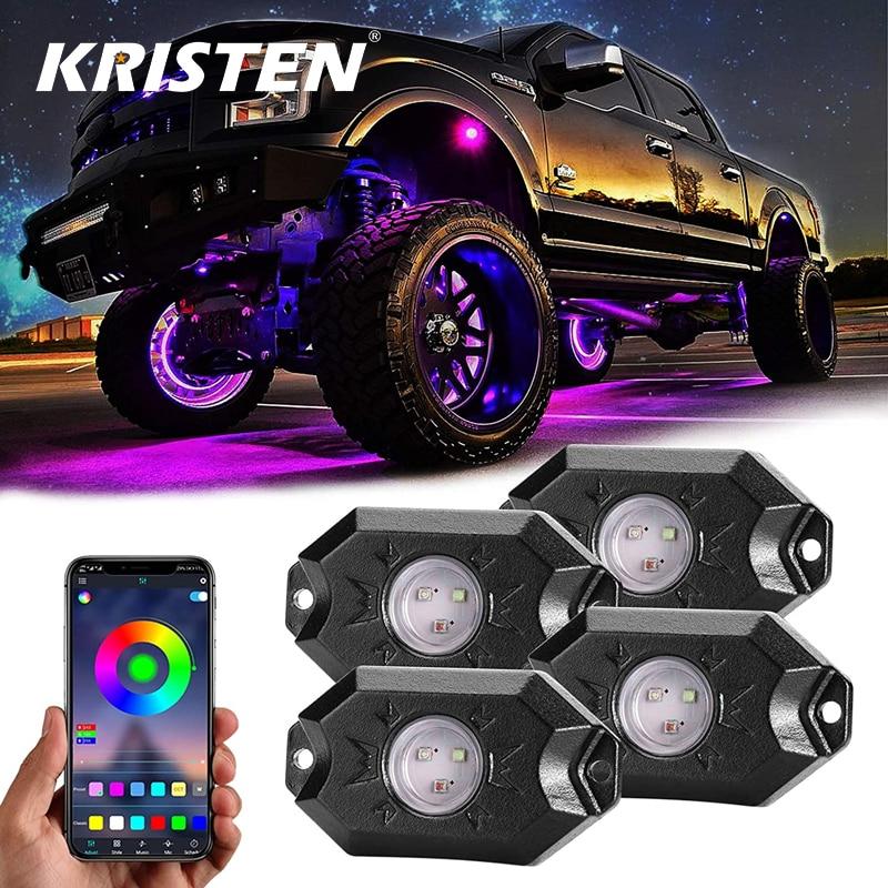 Car Underglow Light LED RGB Underbody Neon Light Decorative Atmosphere Lamp For Car Truck ATV UTV SUV Offroad Boat