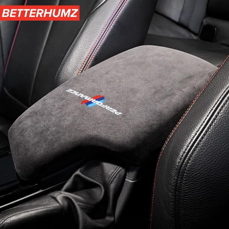 Panel de Caja de apoyabrazos Interior para coche, cubierta ABS, estilo adhesivo de rendimiento M para BMW F30 F31 F32 F34 F36 3GT 3 Series