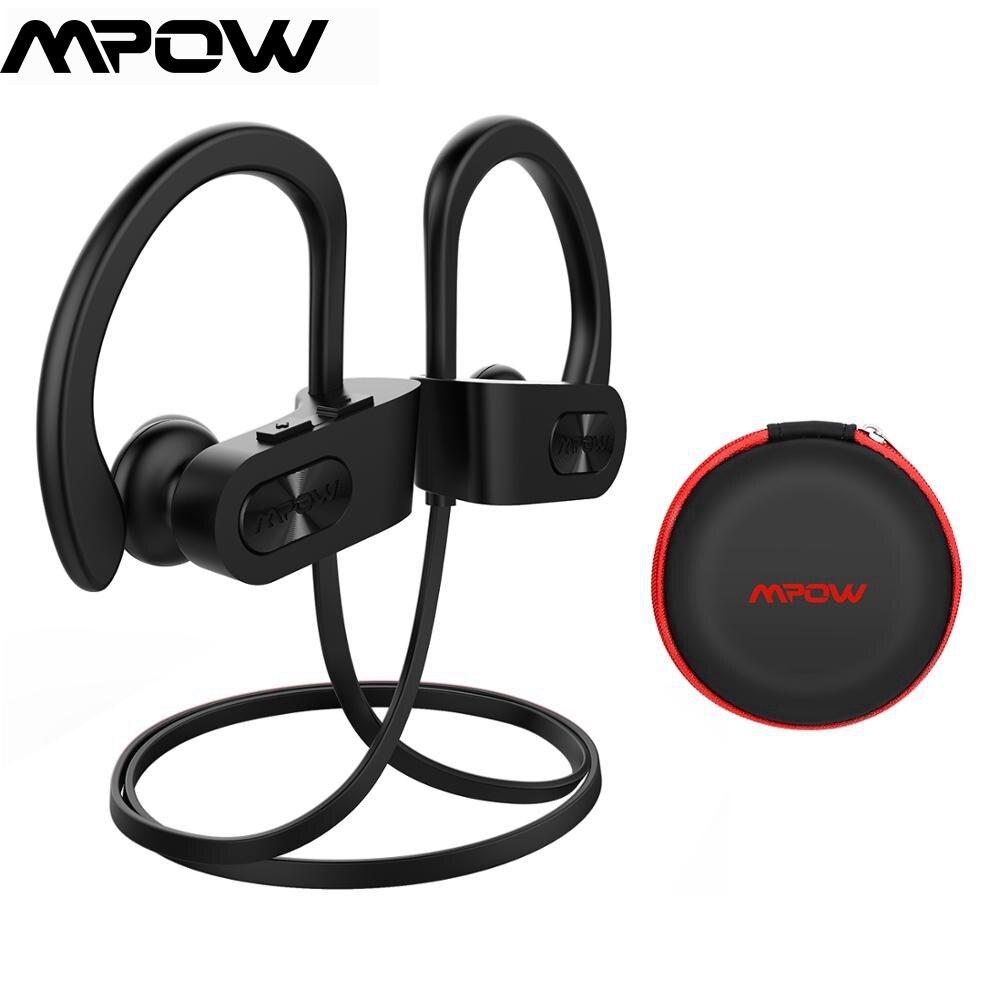 Mpow Bluetooth 4,1 Kopfhörer Noise Cancelling Kopfhörer HiFi Stereo Drahtlose Flamme IPX7 Wasserdichte Sport Ohrhörer mit Mic Fall