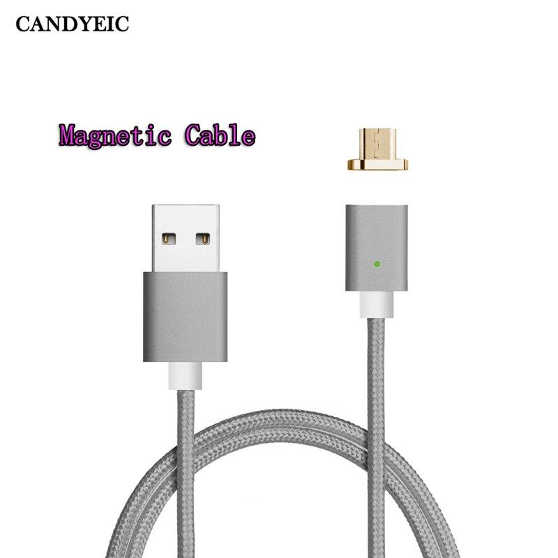 Carregador magnético candyeic para xiaomi redmi note4x redmi note5a cabo magnético para redmi 3 redmi 2 cabo usb magnético carga rápida