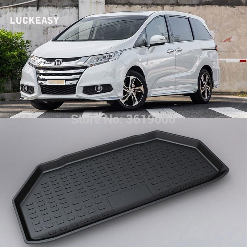 Tapete antideslizante LUCKEASY resistente al agua 3D TPO maletero reciclado duradero para Honda Odyssey 2015 estilo de coche