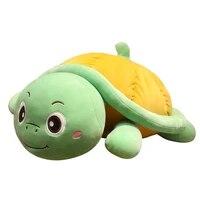lovely huggable tortoise plush toy soft stuffed cartoon sea animal doll nap pillow cushion birthday christmas gift for boys kids