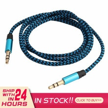Audio Cable Kabel Line Cable Car Auxiliary Audio Accessories Mobile Phone Telephone Line 1m Multicol