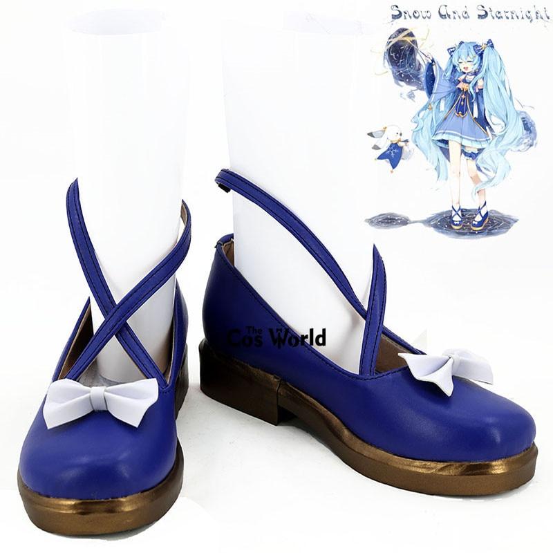 Vocaloid 2017 neve hatsune miku anime personalizar cosplay sapatos planos