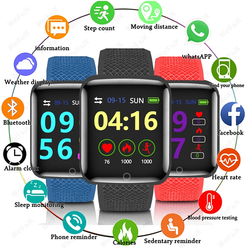 AliExpress - 2020 Smart Watches Men Women Smartwatch With Heart Rate Blood Pressure Fitness Tracking Sports Bracelet Android IOS Smart Watch
