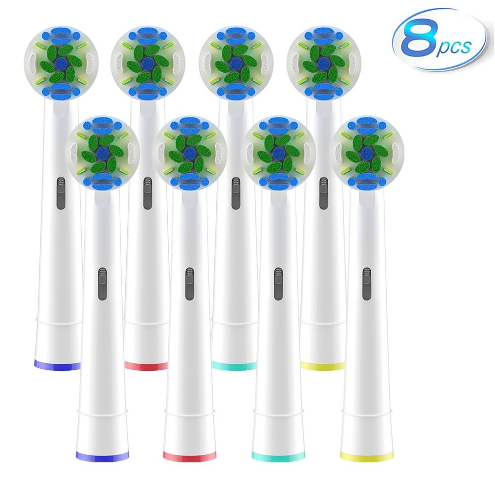 8pcs/lot Toothbrush Heads For Oral B Electric Toothbrush - for Oral B Sensitive Gum Care Dual Clean Cross Action Brush Head