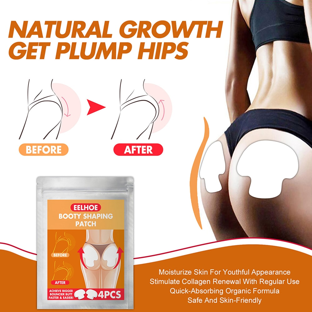 4 Pcs Body Shaping Patches Hip Lifting Stickers Hip Shaping Patches For Home Women Booty Shaping Patch Massager