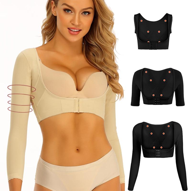 Women Arms Shaper Slimming Body Shaper Shoulder Underwear Back Posture Corrector Humpback Prevent Po
