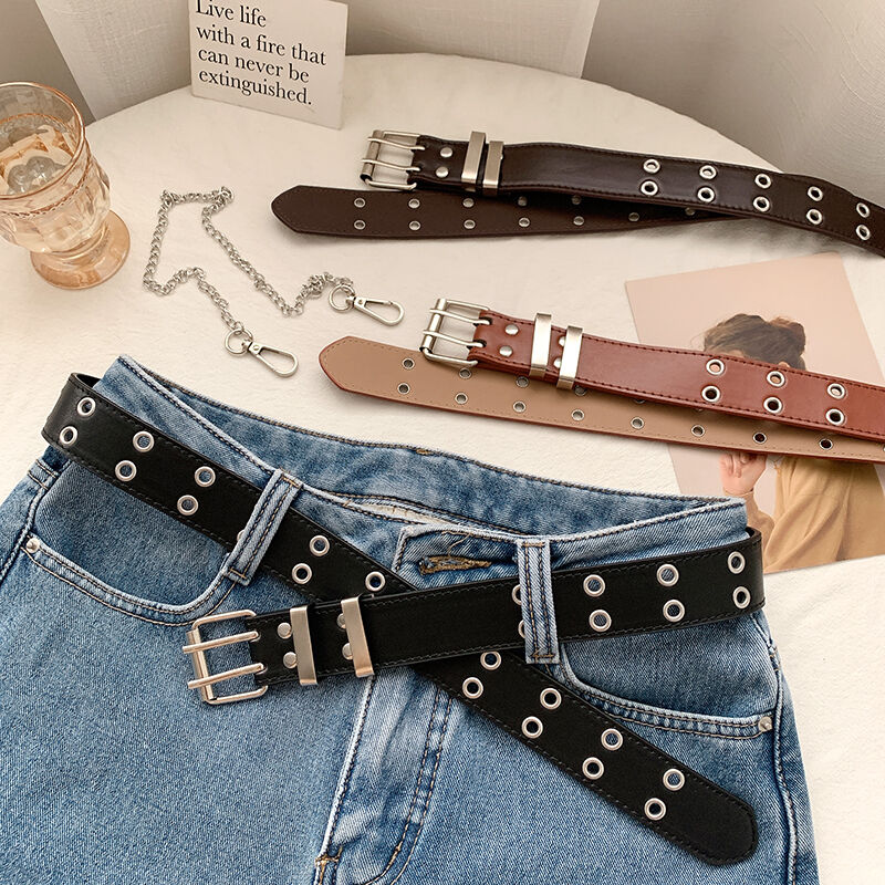 Belt Women's Jeans All-Match European and American Simple Vintage Punk Style Metal Waist Chain with