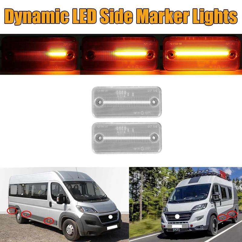 Car Dynamic LED Side Marker Light Turn Signal Light for Iveco Fiat Ducato Citroen Relay Peugeot Boxer Renault VOLVO
