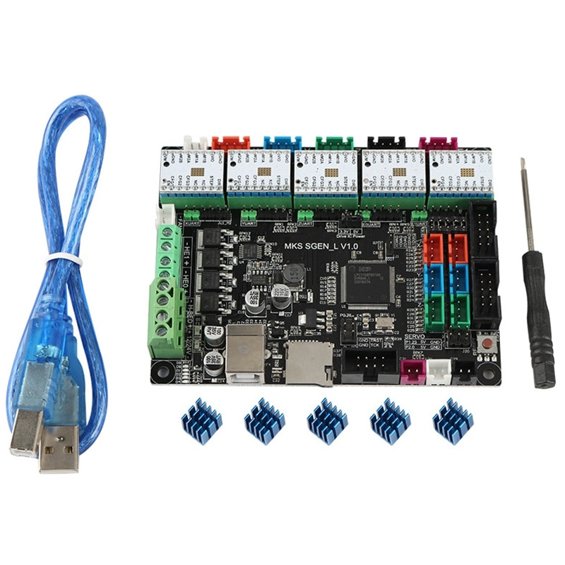 3D Printed ARM32 Bit Motherboard MKS SGen-L+5 x TMC2100 Driver Compatible with Uart/SPI