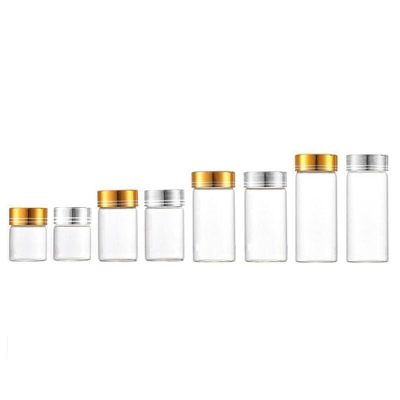 360 قطعة 8 مللي 15 مللي 20 مللي 30 مللي زجاجة من الزجاج الشفاف مع غطاء برغي e السائل زيت طبيعي عينة فيال إعادة الملء زجاجة