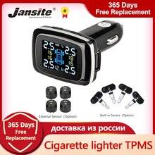 Jansite Car TPMS Tire Pressure Monitoring System Sensors Cigarette Lighter USB port Auto Security Al